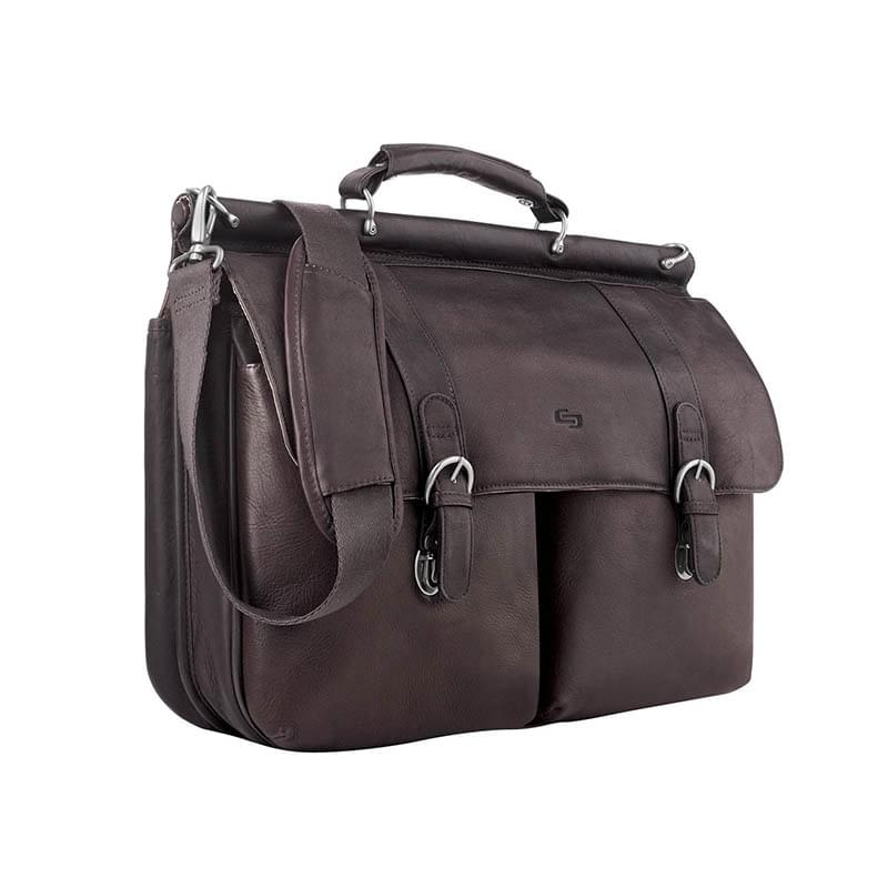 Solo Executive Leather Briefcase