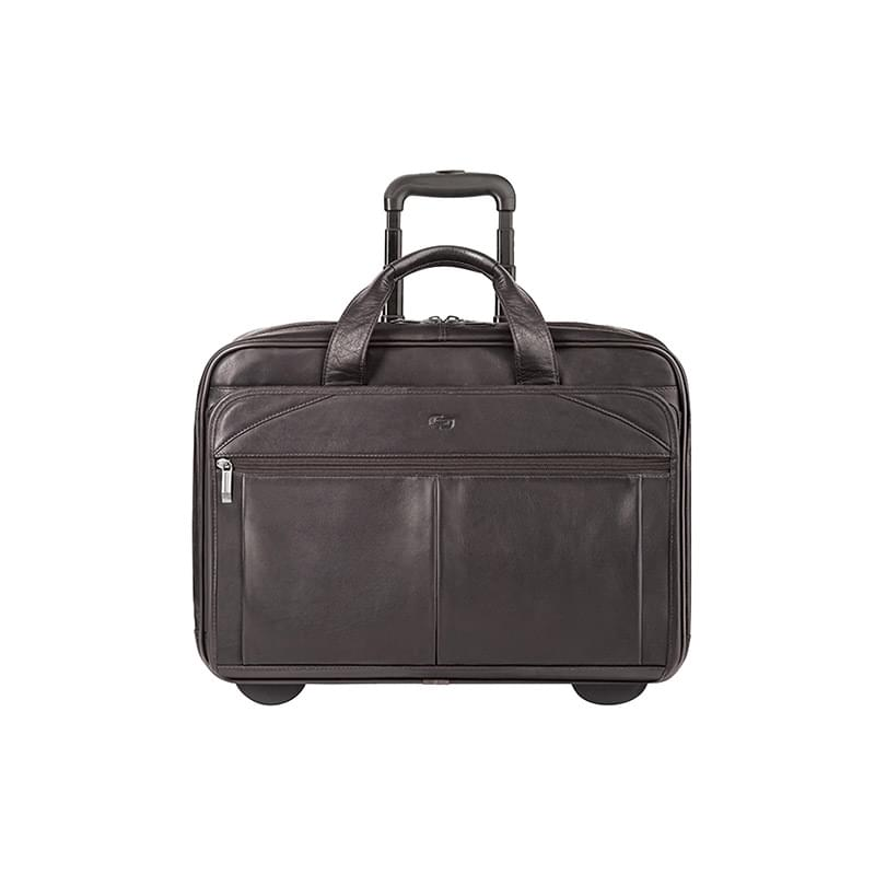 Solo Executive Leather Rolling Case