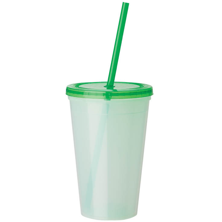 16 oz. Color-Changing Tumbler with Straw