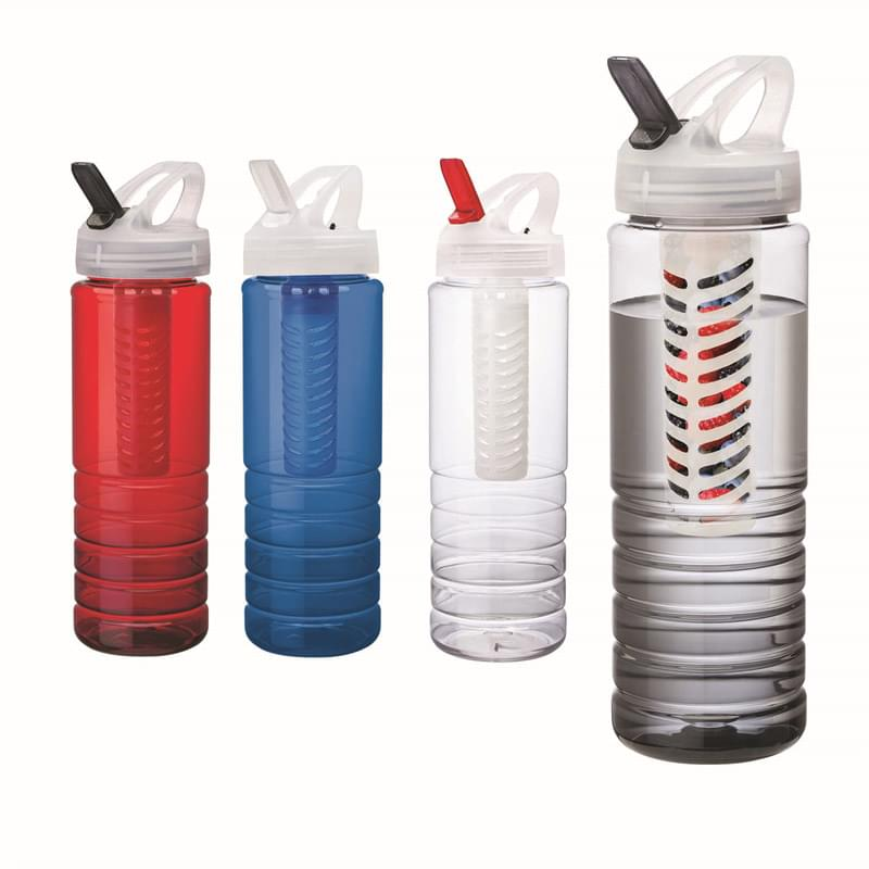 26 oz. PET Bottle with Flip Spout & Infuser