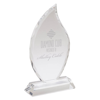 Large Crystal Flame Award
