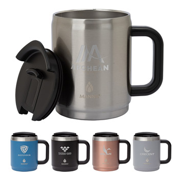 Manna™ 14 oz. Boulder Steel Camping Mug w/ Handle