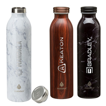 Manna™ 20 oz. Retro Stainless Steel Water Bottle