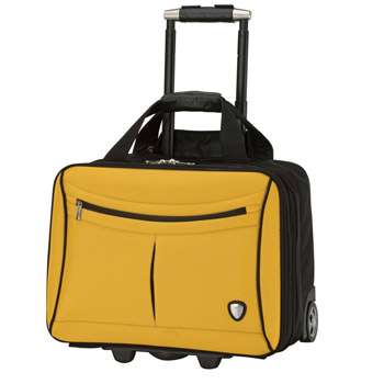 Yellow and Black Trolley Case