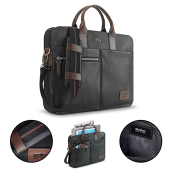 Solo® Brookfield Leather Slim Briefcase