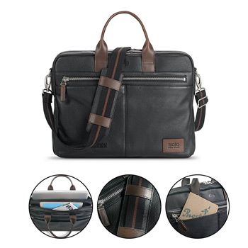 Solo® Shorewood Leather Briefcase