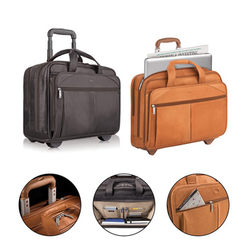 Solo® Walker Leather Rolling Case