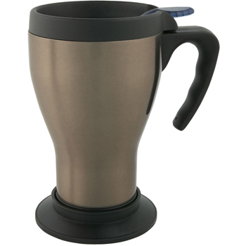 14 oz. Steel Mug with Handle & Base