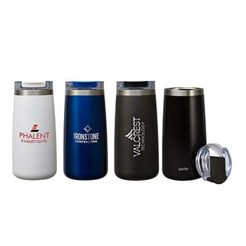 Perka® Erie 16 oz. Double Wall Stainless Steel Tumbler