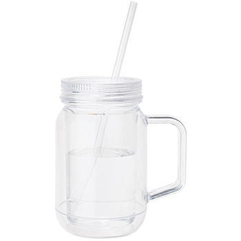 17 oz. Handled Mason Jar Mug