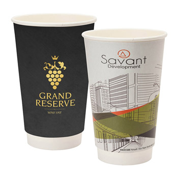 16oz Double Wall Paper Coffee Cup