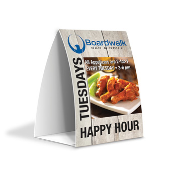 "PaperSplash? 4"" x 6"" Tent Table Talker"