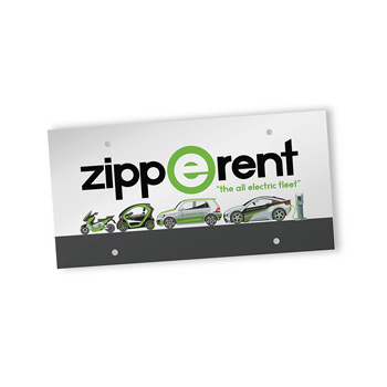 PaperSplash™ Front License Plate