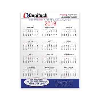 "PaperSplash™ 8 3/8"" x 11"" Wall Calendar"