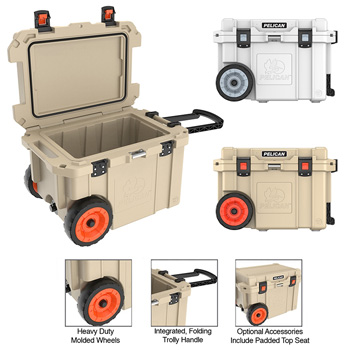 Elite 45qt Pelican™ Wheeled Cooler