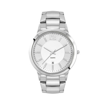 Men's Silver Stainless Steel Case, and Stainless Steel bracelet
