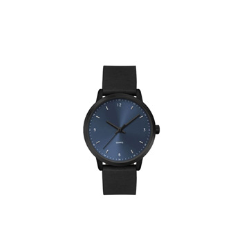 Ladies 30.5mm Black Metal Case with Blue Dial