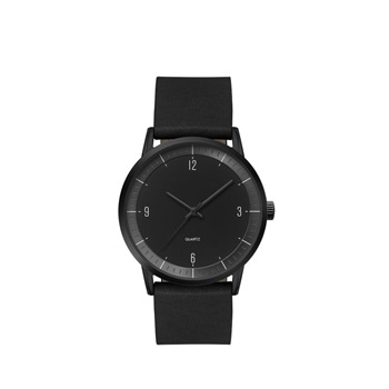 Men's 39.5mm Black Metal Case with Black Dial