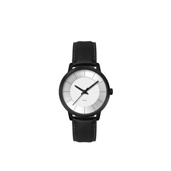 Ladies 30.5mm Black Metal Case with Silver Dial